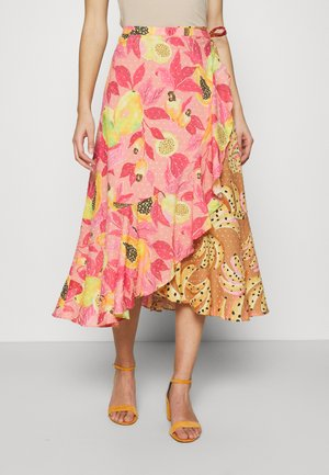 DUAL PRINTS MIDI SKIRT - Wrap skirt - multi