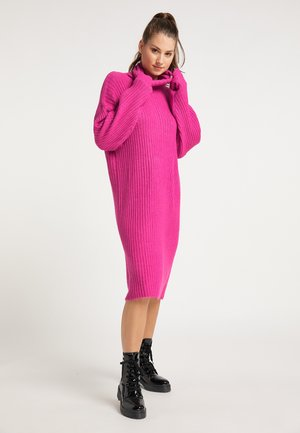 Jumper dress - fuchsia