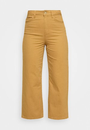 VMKATHY LOOSE CROPPED - Straight leg jeans - tobacco brown