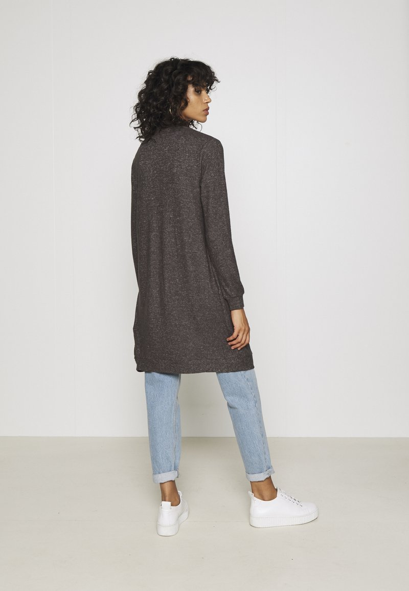 Vila - VIRULI KNIT CARDIGAN - Cardigan - dark grey melange