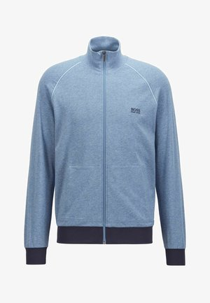 Zip-up hoodie - open blue
