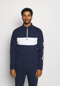 Reebok - LINEAR LOGO SET - Tracksuit - dark blue - 0