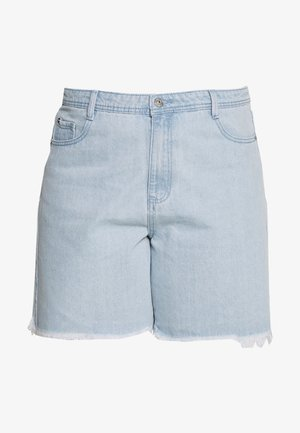 FRAYED LONG LINE  - Jeansshorts - stonewash