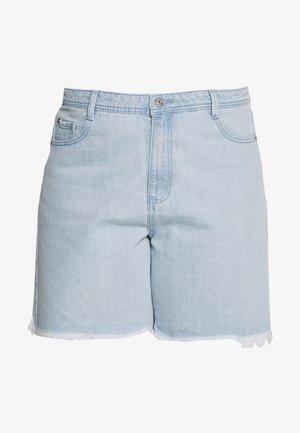 FRAYED LONG LINE  - Denim shorts - stonewash