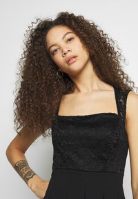 WAL G PETITE - SQUARE NECK SHOULDERS DRESS - Sukienka letnia - black - 3
