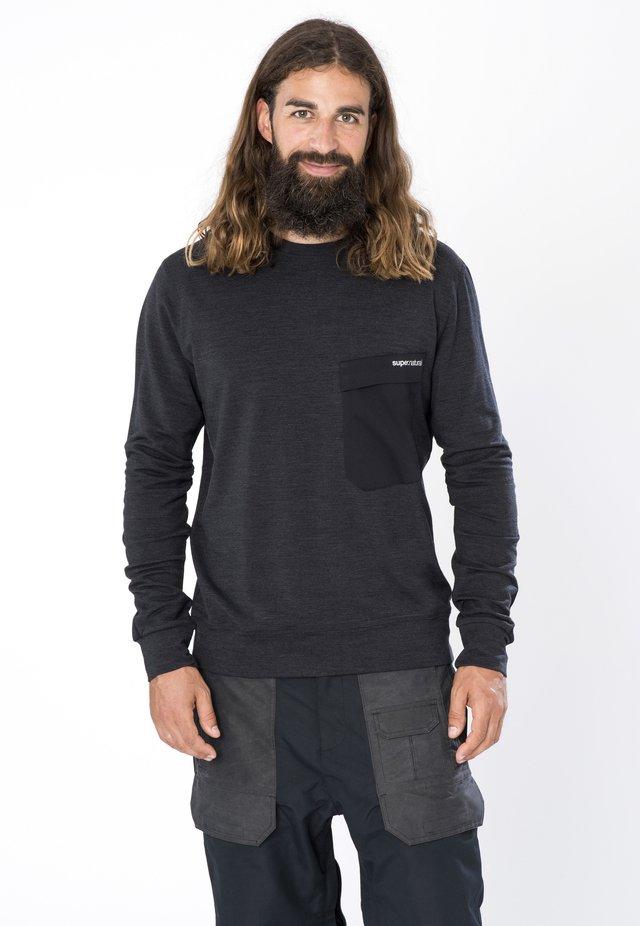 MERINO  M ALPINE CREW - Sweatshirt - schwarz