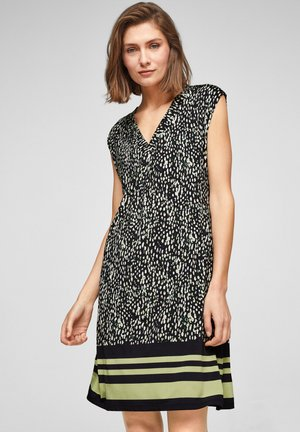 Jersey dress - navy minimal print