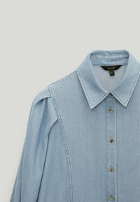 Massimo Dutti - Button-down blouse - light blue - 3