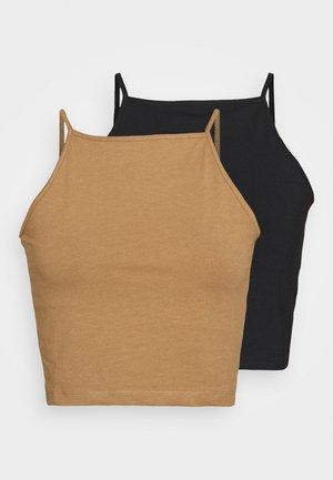 2 PACK - Top - black/brown