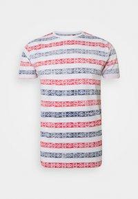 REEF - T-shirt imprimé - white/rich navy/red