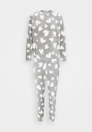 ONLCAYA NIGHTWEAR SET - Pyjama set - light grey melange