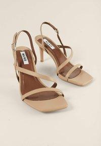 NA-KD - High heeled sandals - beige - 1