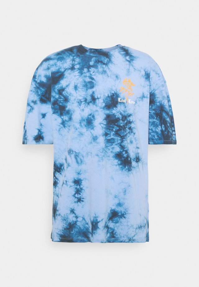 LOST LOVE TIE DYE TEE UNISEX - T-shirt print - blue/black