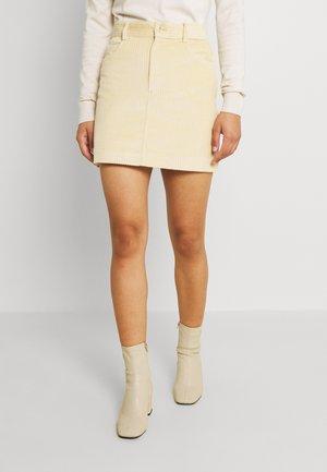ASPEN SKIRT - Mini skirt - straw