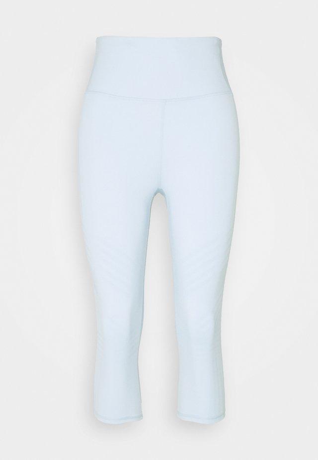 STRIPE CAPRI - Leggings - baby blue