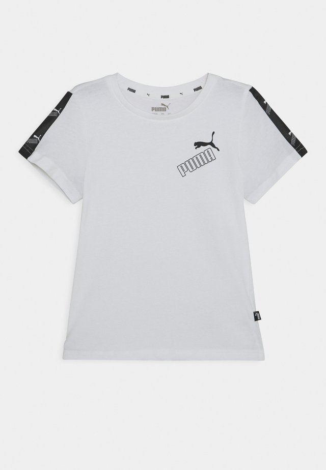 AMPLIFIED TEE  - T-shirt z nadrukiem - white