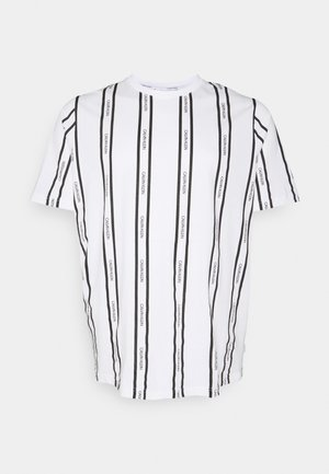 VERTICAL LOGO STRIPE - T-Shirt print - bright white
