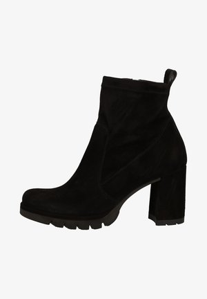 High heeled ankle boots - schwarz 007