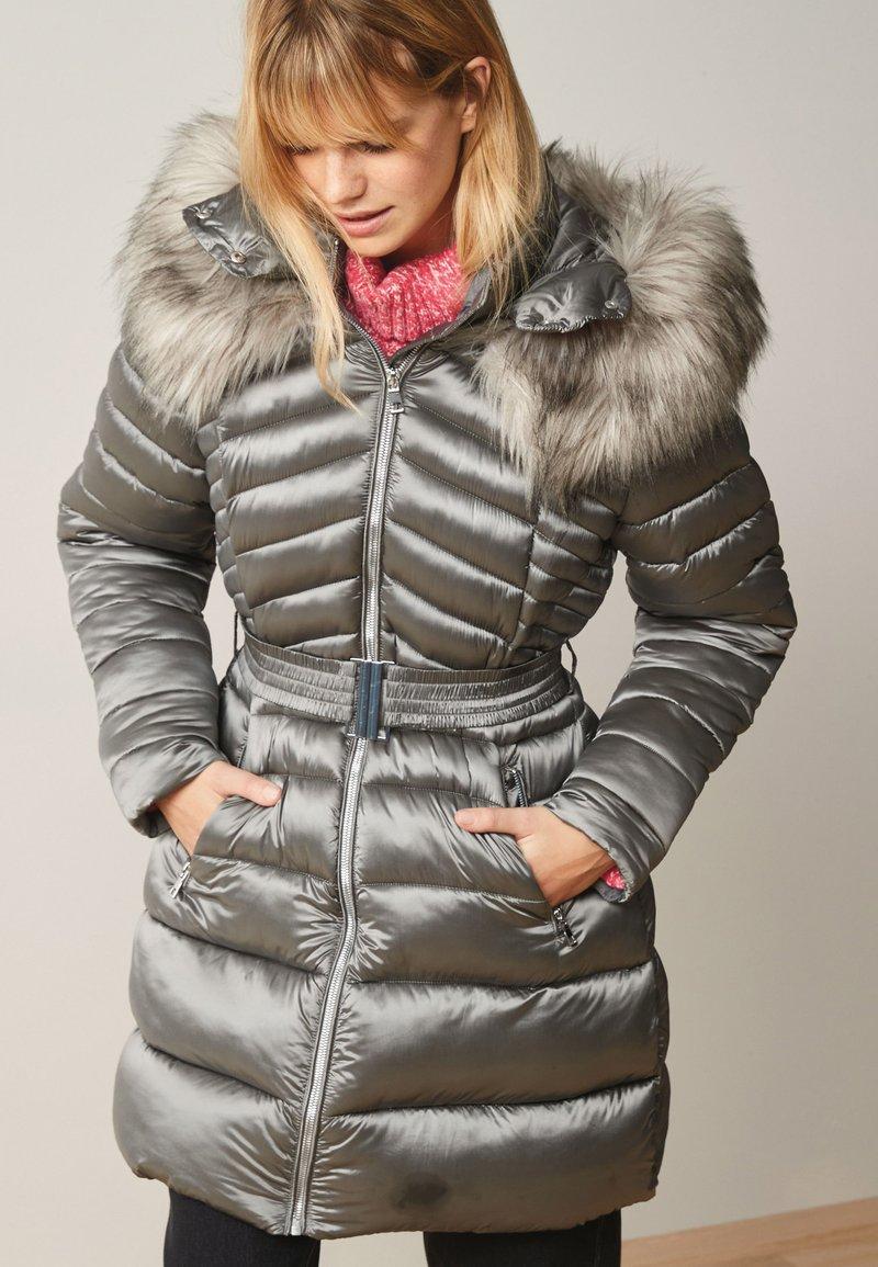 Next - Winter coat - silver