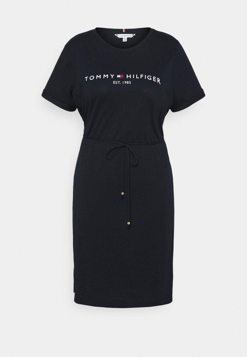 Tommy Hilfiger Curve - COOL DRESS - Jersey dress - blue