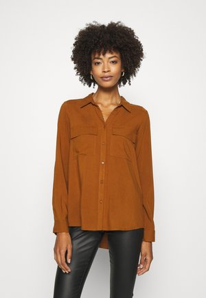 SC-RADIA 79 - Button-down blouse - dark caramel