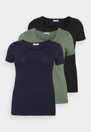 3er PACK  - Camiseta básica - blue/green/black
