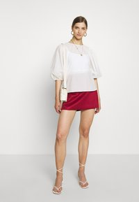 ONLY - ONLLINEA BONDED - A-line skirt - rhubarb - 1