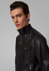 BOSS - MATEK - Leather jacket - black - 4