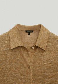 Massimo Dutti - Button-down blouse - brown - 4