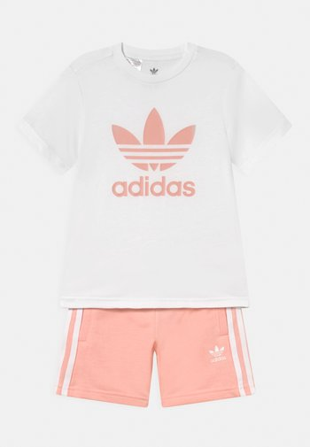 SET UNISEX - Print T-shirt - white/haze coral