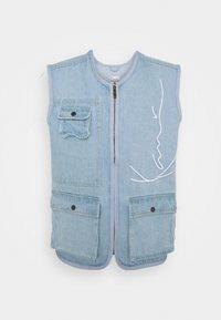 SIGNATURE UTILITY VEST - Waistcoat - light blue