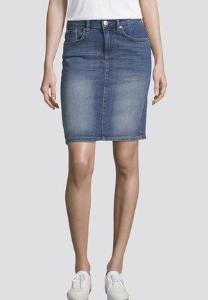 Denim skirt - dark stone wash denim