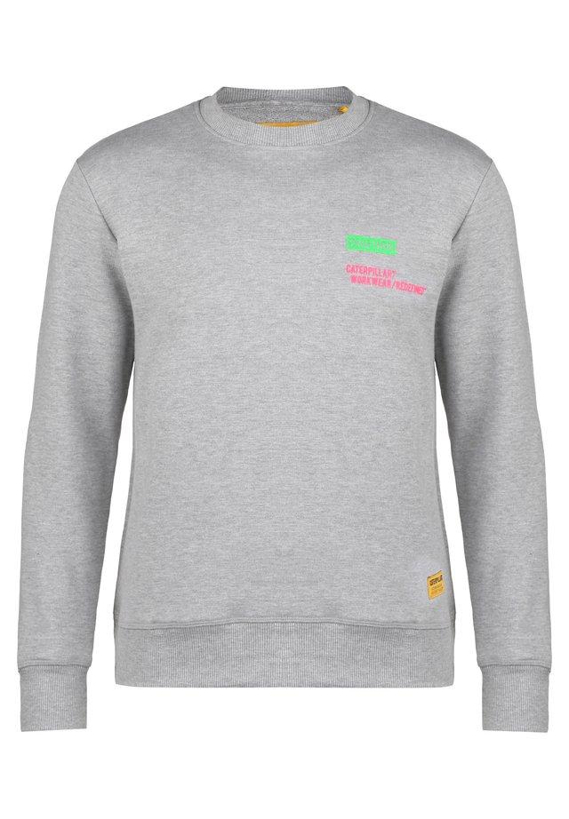CATERPILLAR CATERPILLAR CAUTION ROUNDNECK SWEATSHIRT HERREN - Sweatshirt - gray melange
