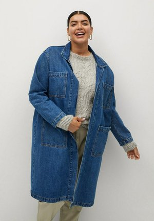 Classic coat - mittelblau