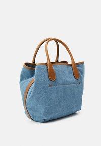 Polo Ralph Lauren - OPEN TOTE - Handbag - light blue/cuoio - 1