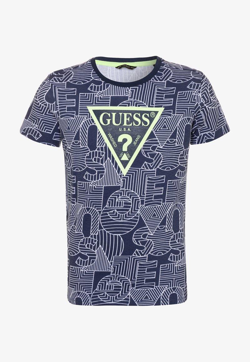 Guess - JUNIOR - Camiseta estampada - blue