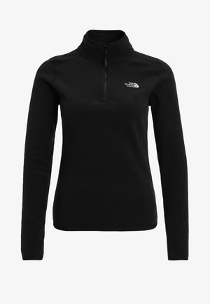 WOMEN'S GLACIER 1/4 ZIP - Bluza z polaru - black