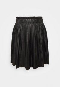 ONLY - ONLMIE PLEAT SKIRT - Mini skirt - black - 0