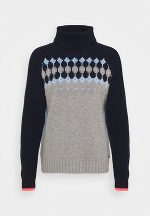 DENALI - Jumper - grey/light blue