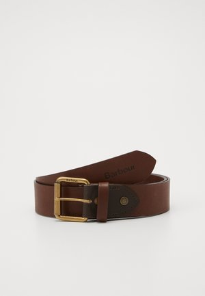 CONTRAST BELT - Belt - olive/brown