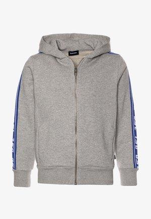 SUITAX - Zip-up hoodie - grey melange/blue