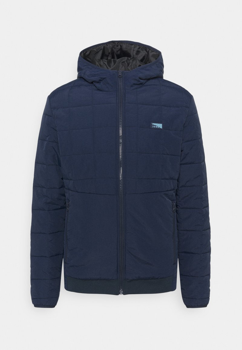 Jack & Jones - JCOMAGIC TWIST QUILTED JACKET HOOD - Light jacket - navy blazer