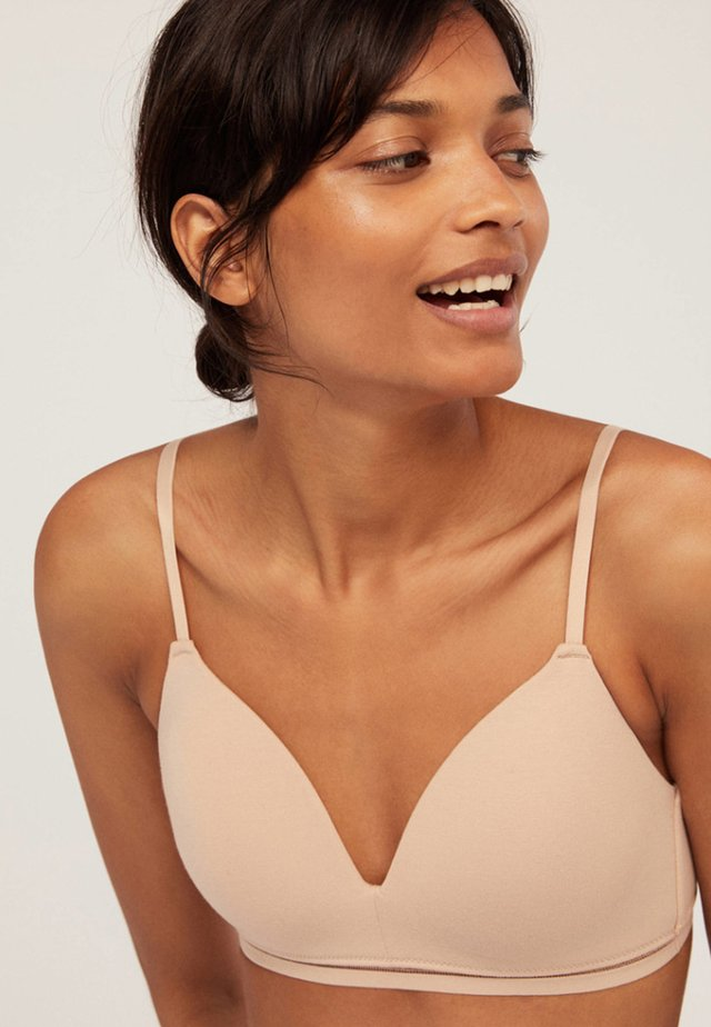 Triangle bra - nude