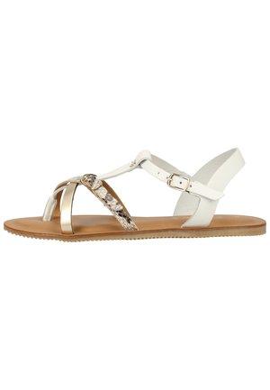 SCAPA ZEHENSTEG - Sandals - wit / blanc 100