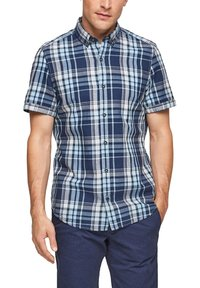 s.Oliver - Shirt - blue/white check - 0