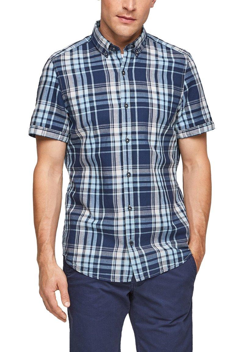 s.Oliver - Shirt - blue/white check