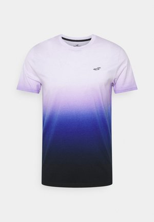 CREW OMBRE - T-shirt z nadrukiem - purple/navy