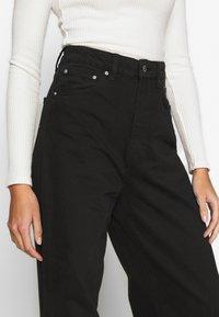 Gina Tricot - WIDE LEG  - Flared jeans - black - 5