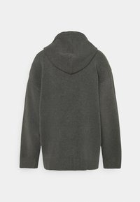 Monki - MARY HOODIE - Jersey con capucha - grey dark - 1