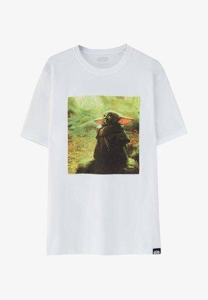 MIT BABY-YODA-MOTIV - Print T-shirt - white
